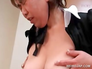 slutty oriental aged maiden receives shaggy cunt