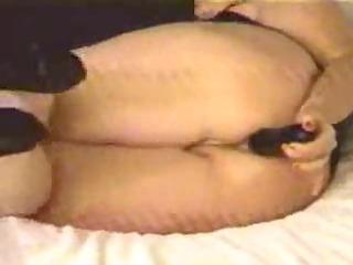 mature ass eats whole dildo on cam