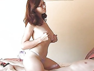 breasty momma with glasses in underware sucks