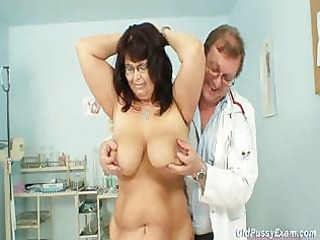 older daniela has her huge mounds checked by gyno