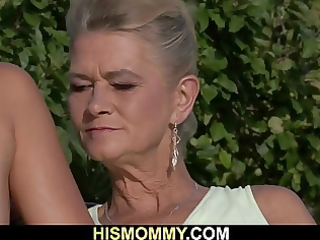 nasty granny toying her sons gf