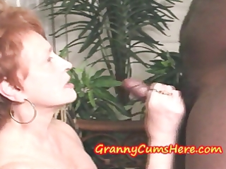 granny swallows load and then sucks out my anal