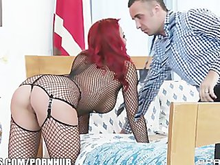 breathtaking redhead wife is caught toying her