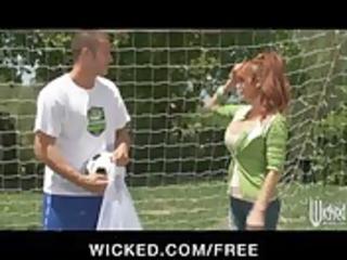 big-tit british redhead soccer mamma lia lor