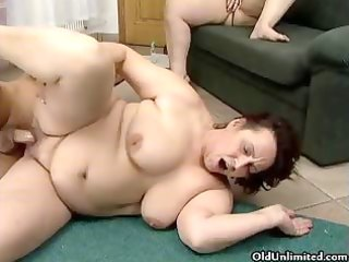 wicked chubby older chicks acquire their soaked