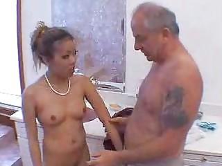 old man blown by hawt oriental gal in shower 11