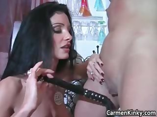 kinky carmen acquires this sexy golden-haired