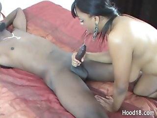 huge darksome cock has pleasure with sexy milf