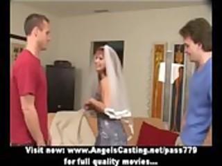 redhead milf as bride does oral pleasure for big
