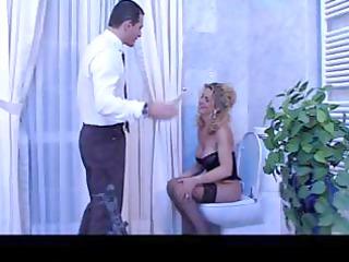 breasty golden-haired older italian hottie blows