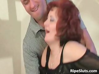 older redhead with large billibongs gets that is