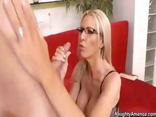 golden-haired milf sends her hubby away so she is