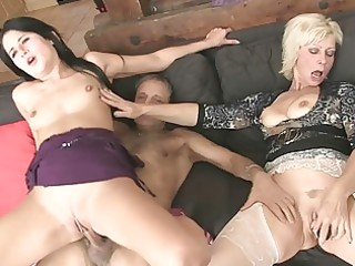 mommy licks daughters slit whilst dad wanks