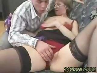 grandmother masturbating to porn
