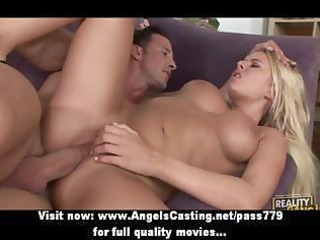 swinger foursome with blonde wives drilled hard