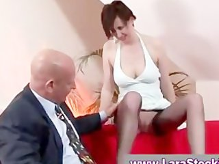 mature in nylons given blowjob