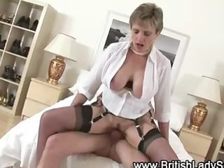 slutty aged brit whore acquires a jizz flow