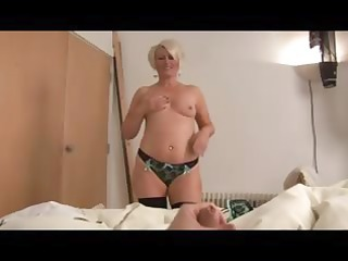 aged bimbo ruling over a dong pov