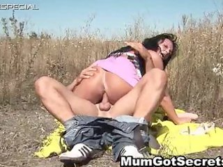 excited mother i acquires drilled hard outdoor