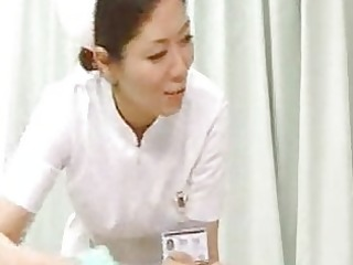 nurse giving cook jerking wife suddenly came