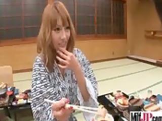 sexy hot japanese milf receive team-fucked hard