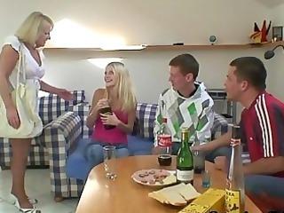 partying boys screw drunk granny
