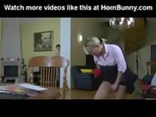 golden-haired mamma bonks her son - hornbunny.com