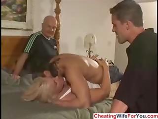Busty MILF is a cuckold wife