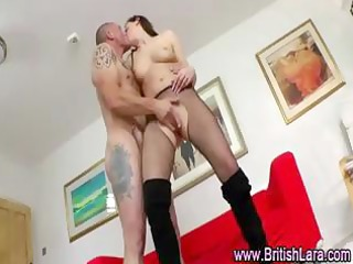 older british lady wearing nylons acquires screwed