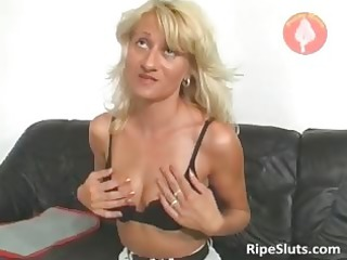 very sexy older golden-haired acquires moist muff
