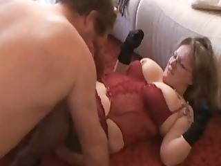 overweight and breasty amateur wife sucks and