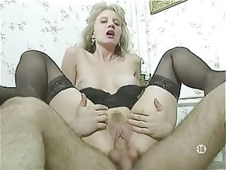 bored french wife in nylons has three-some joy