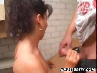 aged non-professional wife homemade anal with