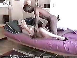 real blonde wife enjoys giant dark cock ever!
