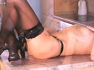 older housewife masturbating alone