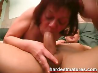 ambisextrous granny pair sharing ramrod