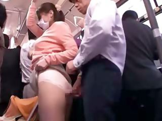 groped youthful mother reluctant public bus orgasm