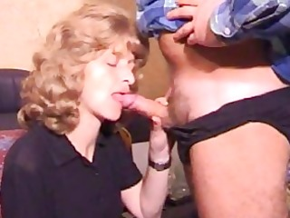 aged amateur wife homemade oral with spunk