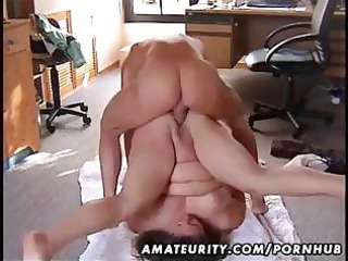 chubby dilettante wife drilled on the floor