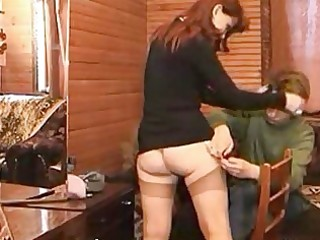 helping uncles wife to fix her nylons end up with