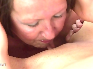 sexy hottie getting moist with a aged lady