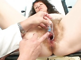 old older floozy receives her hairy examined at