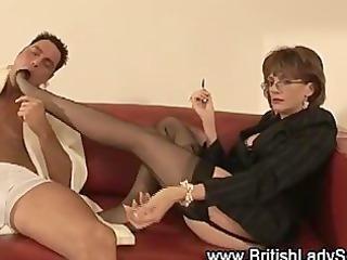 femdom fetish aged stockinged hottie