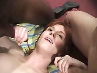 redhead aged ruby in an anal gangbang
