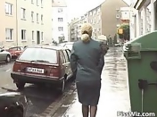 older whore voids urine all over the place