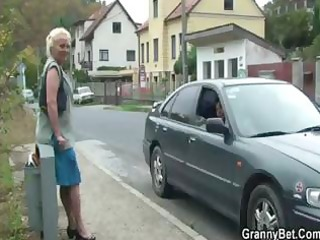 granny doxy is picked up and fucked