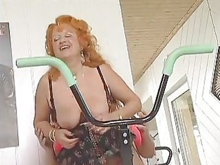 redhead older workout love