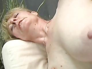 shaggy granny gets a facial