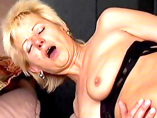 avid old mamma receives drilled hard