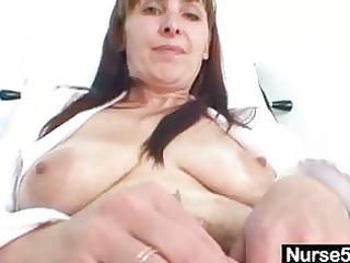 aged mamma karin shows off bushy vagina bizarre